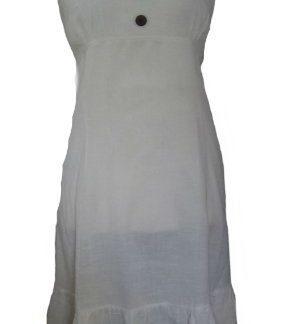 abito lungo donna bottoni noce cocco retro