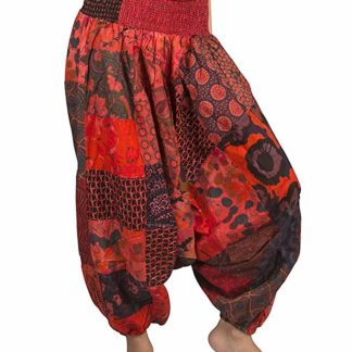 pantalone cotone toppe colorate equo solidale