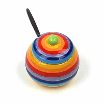 zuccheriera arcobaleno ceramica