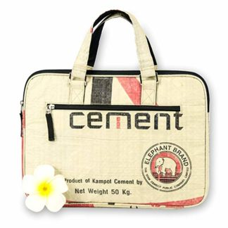 borsa laptop cement crema