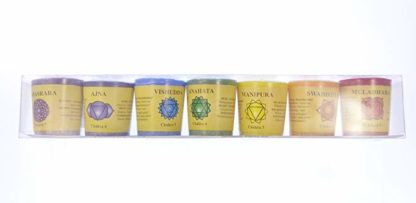 set di candele agli oli essenziali arcobaleno
